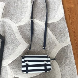 The limited navy and white purse